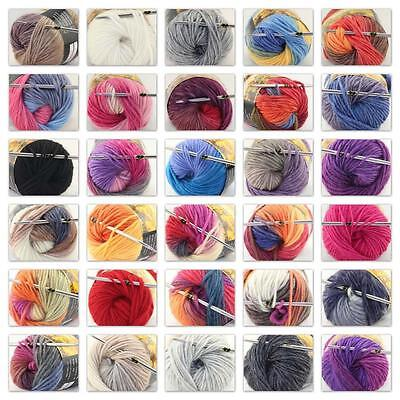 Sale 1 Ball x 50g NEW Knitting Yarn Chunky Hand Wool Colorful Scarves Shawls