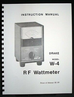 Drake W-4 W4 Wattmeter Manual