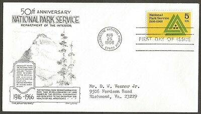 Us Fdc 1966 National Park Service 5C The Aristocrats D Lowry First Day Of Issue
