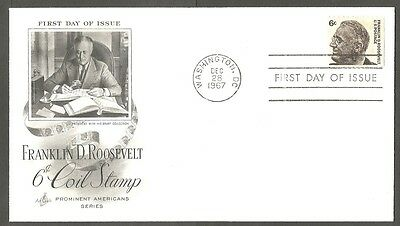 Us Fdc 1967 Franklin D Roosevelt 6C Coil Stamp Ac First Day Of Issue Cover