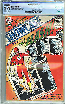 Showcase #4 1956 Very Nice Lower Mid Grade CBCS 3.0 1st App Flash (Barry Allen)
