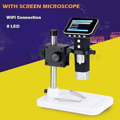 AU 500X HD USB Digital Microscope Camera Portable w/ 3.5'' LCD Screen + Stand
