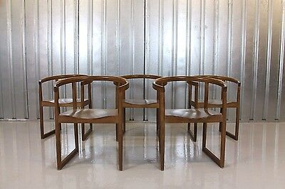 Vintage Retro Mid Century Style Andy Thornton Curved Dining Chairs