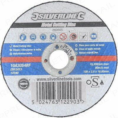 "5x STRONG OSA ACCREDITED METAL CUTTING DISCS 100mm/4"" Angle Grinder Grind Blade"