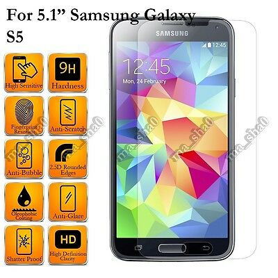 2 Pack Premium Tempered Glass Screen Protector Saver Flim for Samsung Smartphone