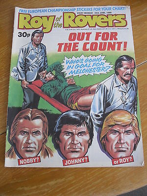 Roy Of The Rovers Comic Magazine 25 Jun 1988 Football Interest Melchester   Vgc