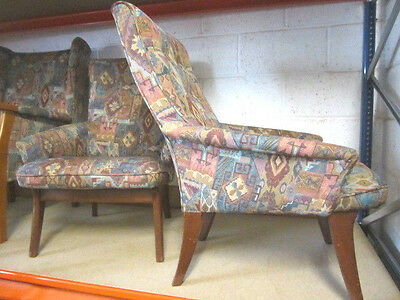 Pair of Reupholstered Armchairs Easy Chairs, Vintage, Retro, Mid Century, 1950's