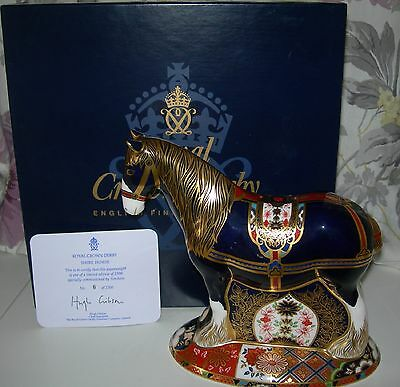 Royal Crown Derby Shire Horse Paperweight - Sinclair's Ltd. Edition  No. 6 Boxed