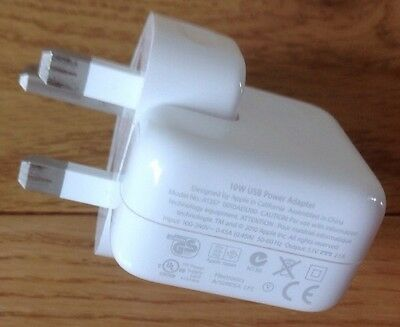 Genuine Apple USB Power Adapter Wall Charger Plug 4 All iPhones iPads Some iPods