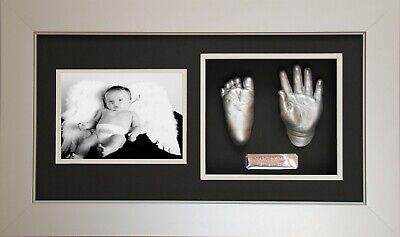 Shadow Box Frame Black,white, Brown, Photo Slot Diy 3D Baby Casting Namepplate