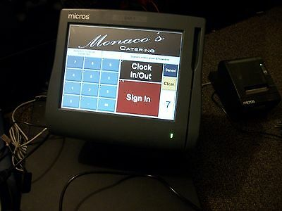 Micros workstation 4 system unit With stand and  Epson Printer,