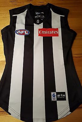 Afl Collingwood Magpies #16 Nathan Brown Player Issue Jumper Jersey Guernsey