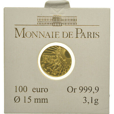 [#462471] France, 100 Euro, 2008, MS(65-70), Gold, KM:1536