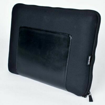 "Duronic LS37/ 17"" Leather / neoprene Laptop Sleeve Cover Apple MacBook Pro Air"