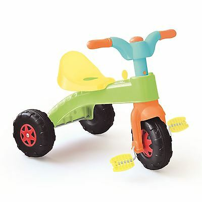 Children Kids Toddler My First Pedal Trike Tricycle Ride On - Green & Yellow