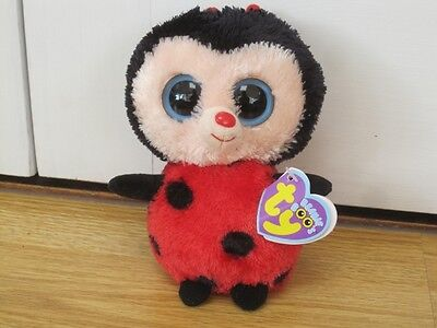 "Ty Bugsy Ladybird Plush Soft Toy 6"" Beanie Boo With Tag"