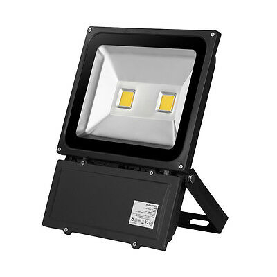 LED Floodlight Ultrathin 100W Warm White Outdoor Garden Security Flood Lamp IP65