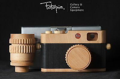 Brand New Leica Wooden Camera - 96689 (1 camera & 2 lenses, Toy & Display)