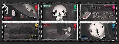2016 Gb Qeii Agatha Christie Set Of 6 Commemorative Stamp Pairs Queen Of Crime