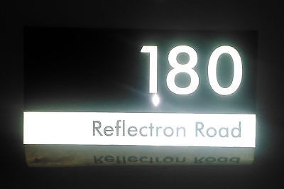 Custom Reflective Aluminum House Number Signs 300mm x 150mm
