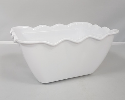 Kristallon Small White SAN Deli Cafe Container Crock Food Restaurant Salad Bowl