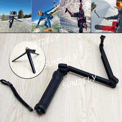 3 Way Selfie Stick Tripod Hand Grip Arm Mount Monopod for GoPro Hero 2 3 3+ 4 5