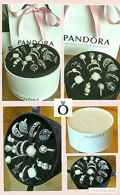 Authentic Pandora Ring Jewellery Storage Travel Box Holds 15 Rings With Giftbag