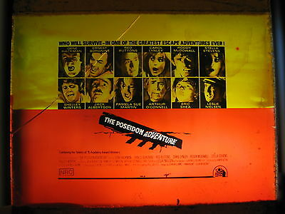 POSEIDON ADVENTURE 1972 Australian cinema movie projector glass slide Borgnine
