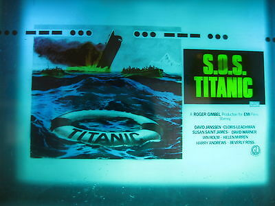 S.O.S TITANIC 1979 Orig Australian cinema movie projector glass slide disaster