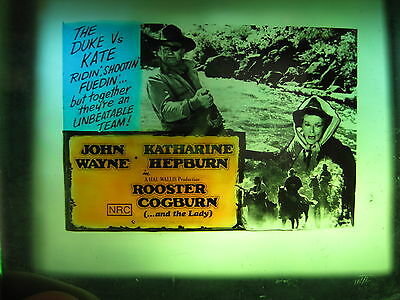 ROOSTER COGBURN 1975 Australian cinema movie projector glass slide John Wayne
