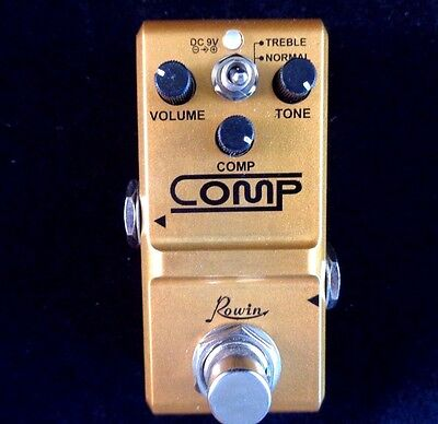 Rowin Nano Comp (Compressor) Guitar Effects Pedal With True By-Pass - Small Size