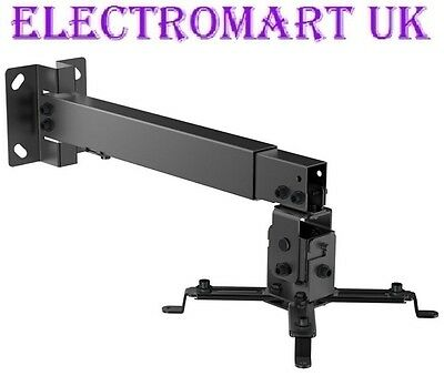 Universal Projector Led Lcd Dlp Wall Bracket Mount Extendable Black