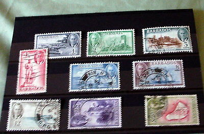 BARBADOS FINE USED STAMP SET, SG 271-281 [ex 24c & 60c], HIGH CAT VALUE.