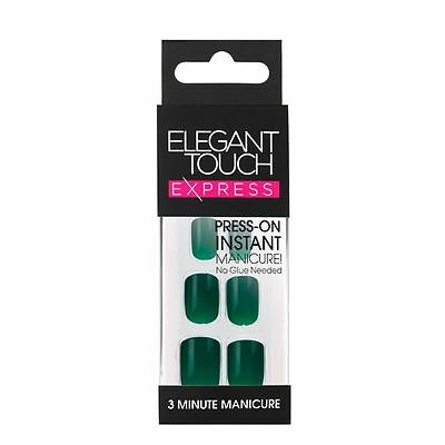 Elegant Touch Express False Nails - Polished Ink Green (24 Nails)
