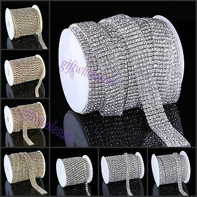Crystal Diamante Rhinestone Chain Trims 1 2 3 4 5 6 Row Cake Decoration SS16