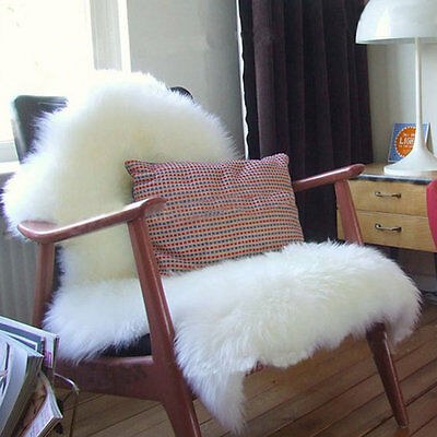 Super Soft Faux Sheepskin Chair Cover Warm Hairy Carpet Seat Pad Fluffy Rugs HT