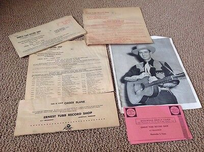 Ernest Tubb Record Shop Lot With Photo Vintage 1951 8 X 10 Photo