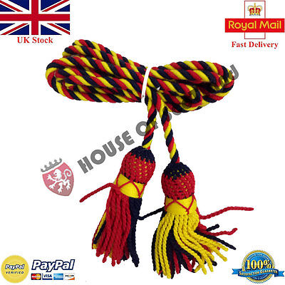 Bb Bugle Cord Yellow,Red,Navy Blue Wool/Army Bugle Wool Cord/Cadet Bugle Cords