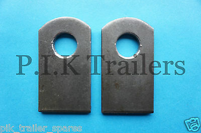2 x Weld-on Antiluce Eye Plates Trailer Drop Catch Tail Gate