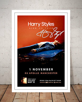 Harry Styles Manchester 2017 Concert Flyer Autographed Signed Photo Print