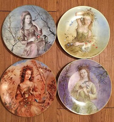 Guy Cambier - Girls Of The Season D'Arceau  Limoges Complete Set Mint With COA