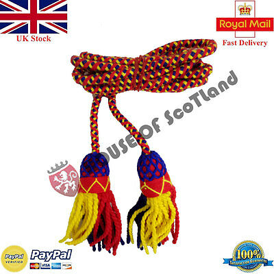 British Army Bugle Wool Cord Yellow,Red,Navy Blue/Bb Bugle Cord/Cadet Bugle Cord