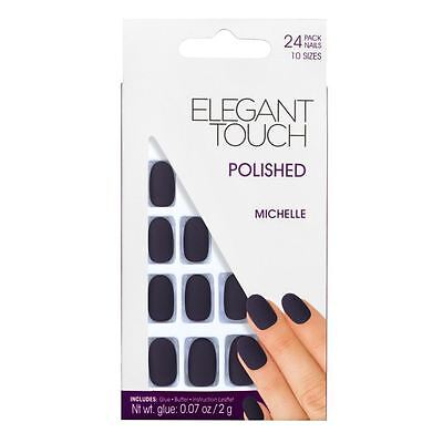 Elegant Touch False Nails - Polished Matte Michelle (24 Nails)