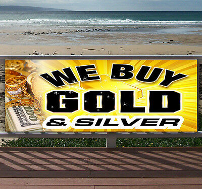 WE BUY SILVER Advertising Vinyl Banner Flag Sign Many Sizes Available USA