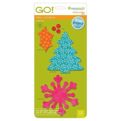 AccuQuilt GO! & Baby GO! Holiday Medley Fabric Cutting Die 55043 Quilting