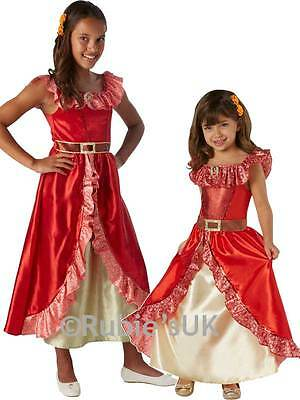 Deluxe Elena Of Avalor Girls Disney Princess Fancy Dress Childrens Kids Costume