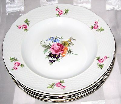 Bohemian China - Bouquet - Rim Soup/Salad Bowls (6)