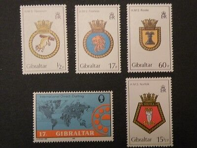 GIBRALTAR - Lot of 5 Stamps Coats of Arms, Animals