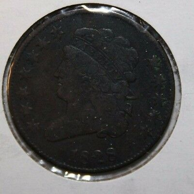 1828 12 star US Half Cent V8