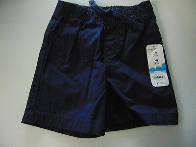 Boys Size 18 Months Jumping Beans Navy Blue Cotton Shorts Nwt New #1013